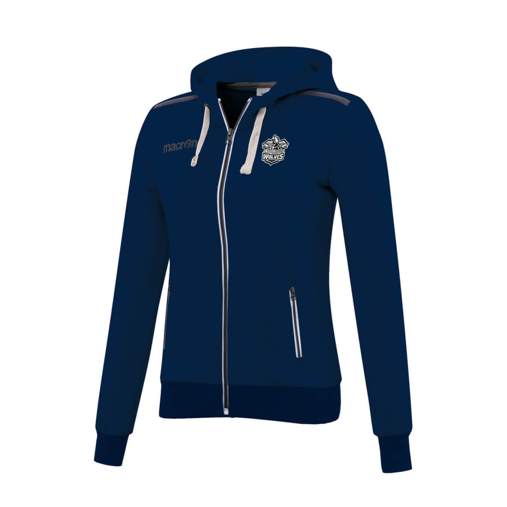 Aber Valley Wolves - Grime Womens Hoody (Navy)