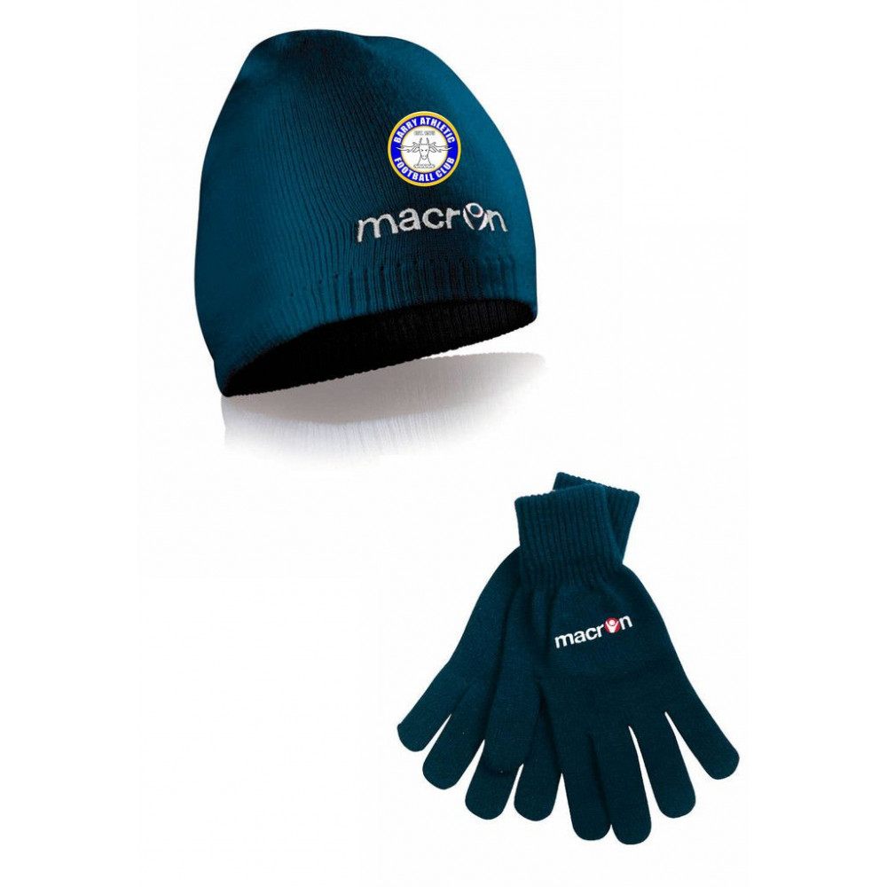 Barry Athletic FC - Hat and Gloves Set
