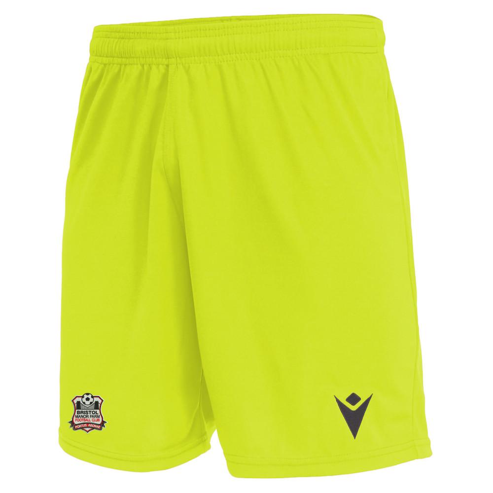 Birstol Manor Farm FC - GK Home Shorts (Neon Yellow) 21/22