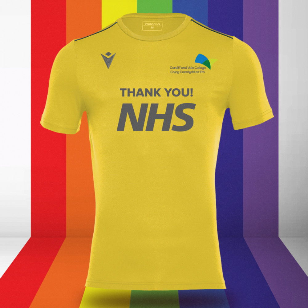 CAVC Football - NHS Support Shirt (Yellow) Kids