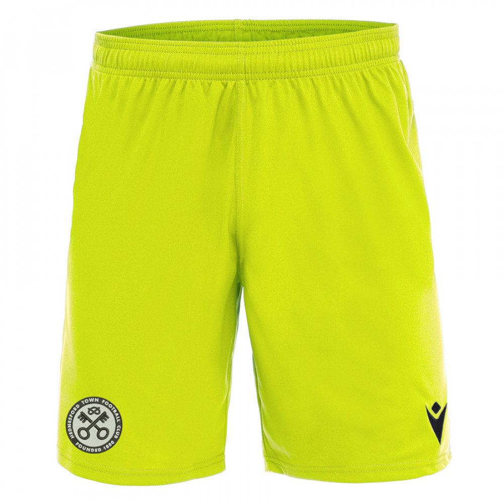 Hednesford Town FC - Mesa Hero Shorts Away (Neon Yellow)