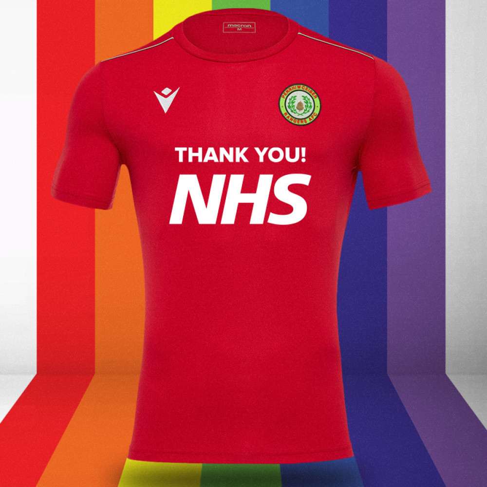 Penrhiwceiber Rangers - NHS Support Shirt (Red)