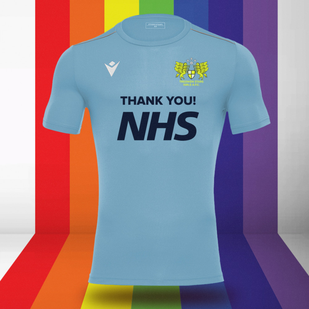 Treowen Stars Girls - NHS Support Shirt (Sky)