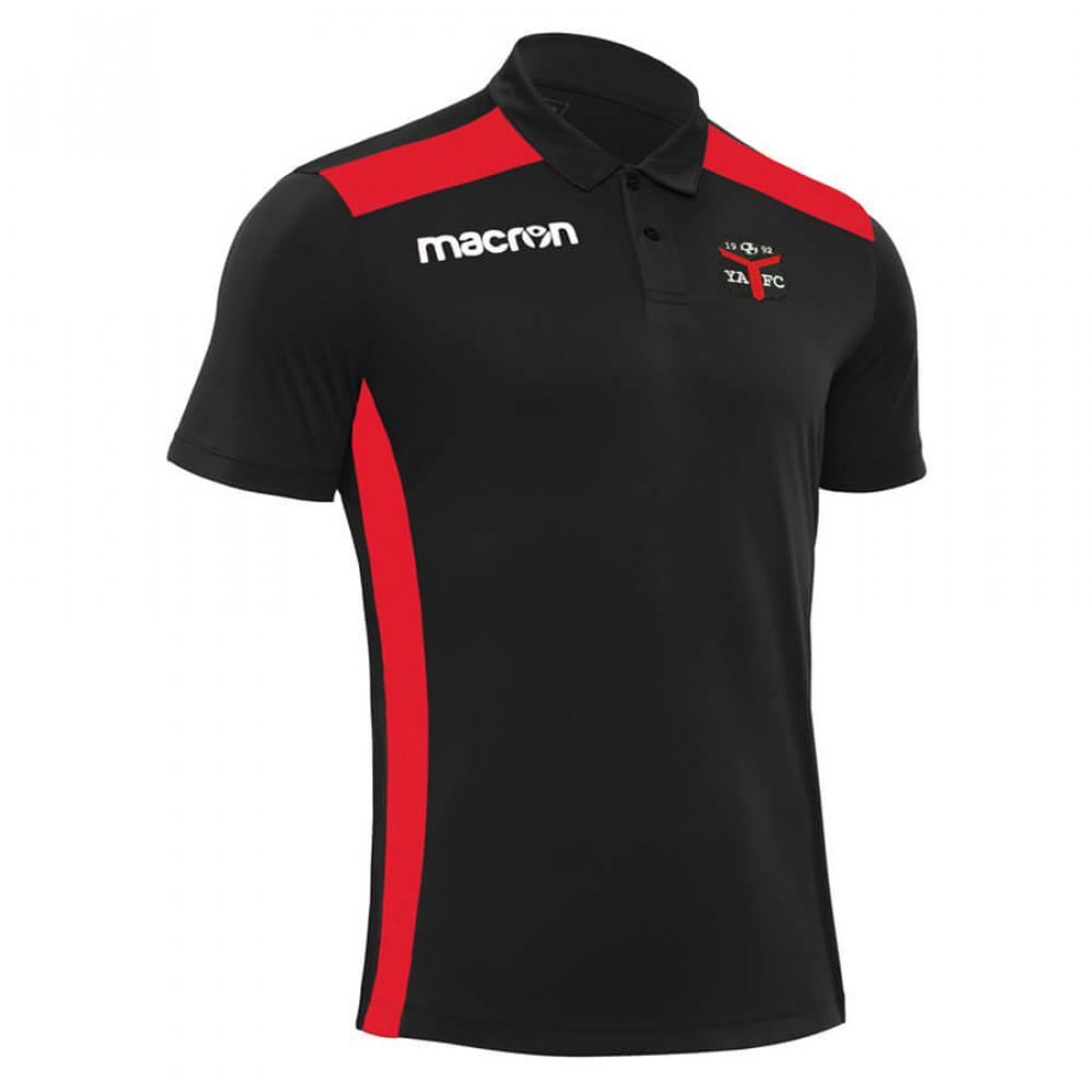 Ynyshir Albion FC - Folk Polo (Black / Red)